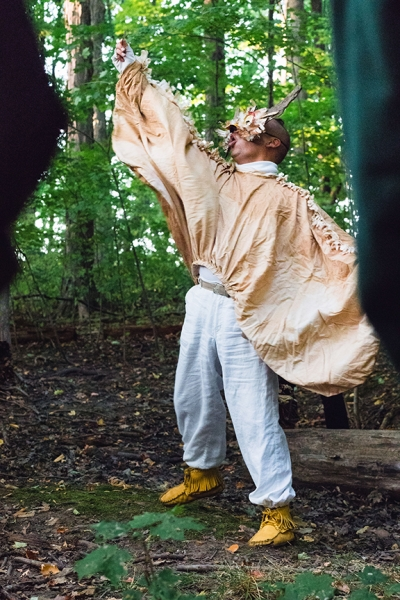 There is No Word for Wilderness presented by Animacy Theatre Collective and TAC and TAF Arts in the Parks Program. Costume design by Beatriz Arevalo. Photos by Emily Sands. Mask Design by Alexandra Simpson, 2019.
