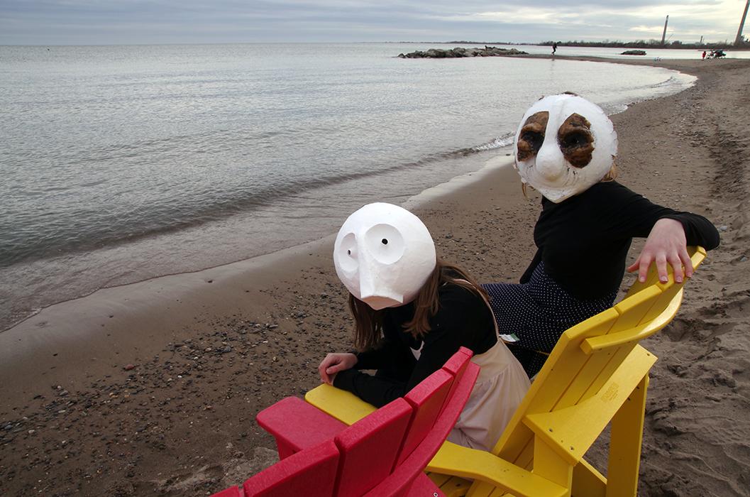 Animacy Theatre Collective, Morgan Johnson and Alexandra Simpson, Masks at Toronto Waterfront.