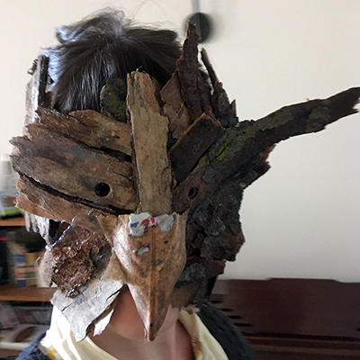 Wood Mask. Land Based Mask Building, Mask Workshop.