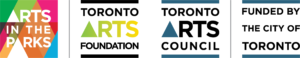 Arts in the Park, Toronto Arts Foundation. Toronto Arts Council logos